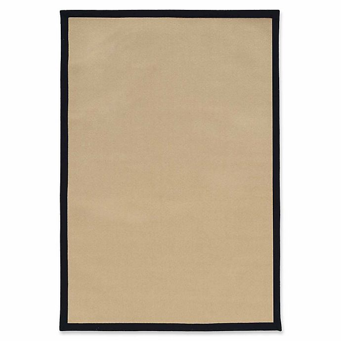Alternate image 1 for Linon Home Natural Inspirations Faux Sisal 5' x 8' Area Rug in Natural/Black