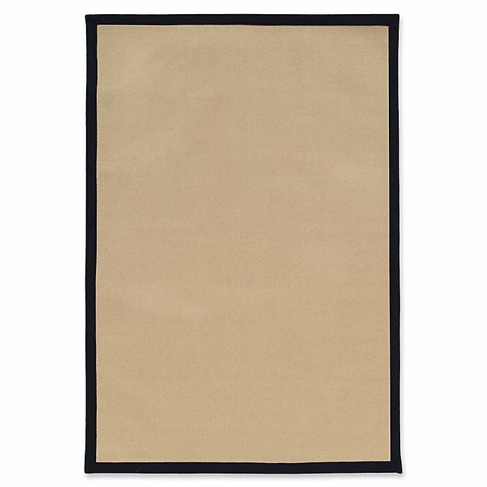 Alternate image 1 for Linon Home Natural Inspirations Faux Sisal 9' x 12' Area Rug in Natural/Black