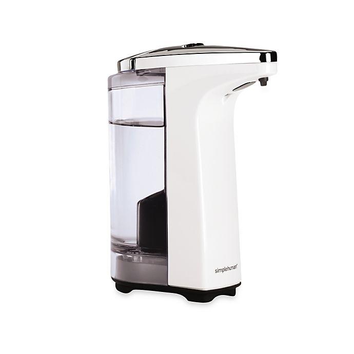 Alternate image 1 for simplehuman® Compact Sensor Pump Soap Dispenser in White