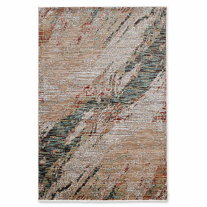 Alternate image 1 for Linon Home Techtonics Marble Rug in Teal