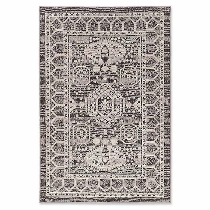 Alternate image 1 for Linon Home Aristocrat Hamadan 8' x 10' Area Rug in Grey/Ivory