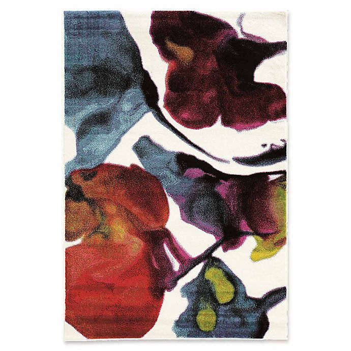 Alternate image 1 for Linon Home Weho Watercolor 2' x 3' Power-Loomed Accent Rug in Ivory