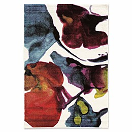 Linon Home Weho Watercolor Power-Loomed Rug in Ivory