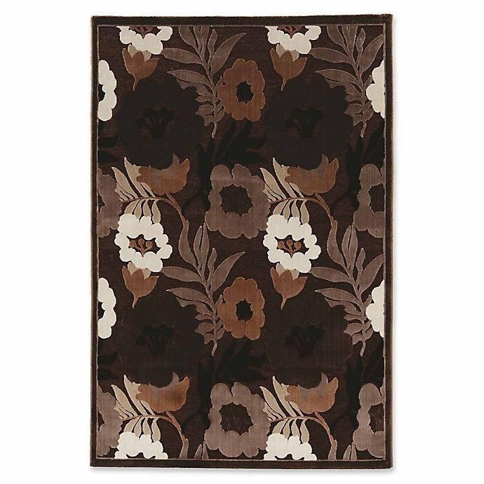 Alternate image 1 for Linon Home Plateau Floral 8' x 10'3 Power-Loomed Area Rug in Brown