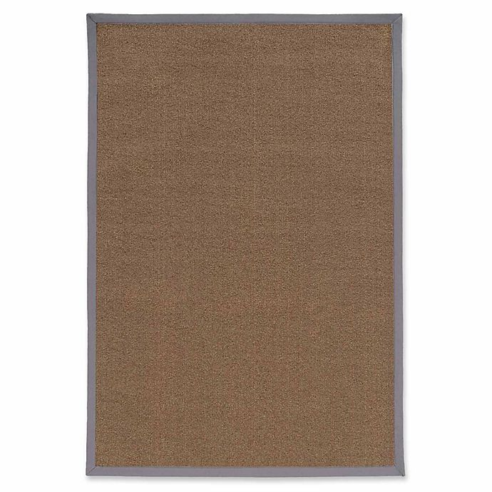 Alternate image 1 for Linon Home Natural Inspirations Faux Sisal 2' x 3' Accent Rug in Brown/Slate