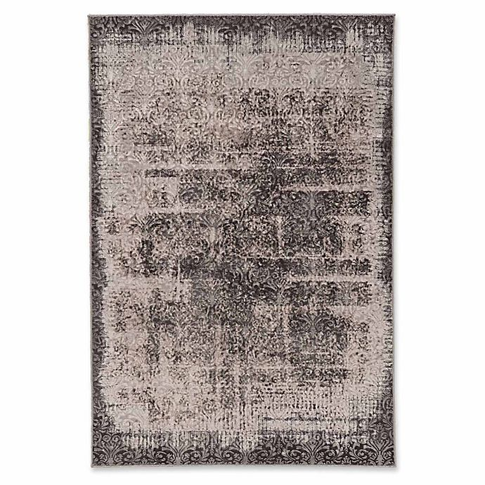 Alternate image 1 for Linon Home Charisma Damask 8' x 10'3 Power-Loomed Area Rug in Grey