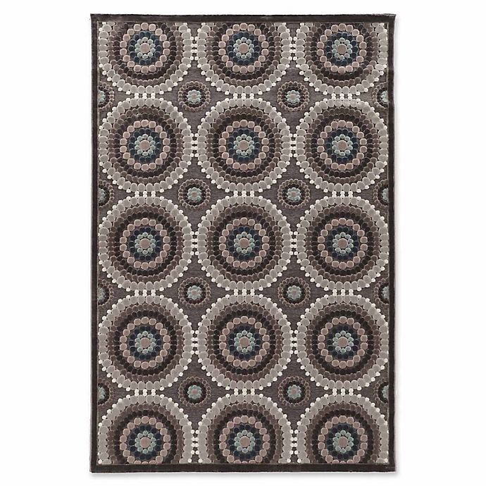 Alternate image 1 for Linon Home Plateau Cylinder 8' x 10'3 Power-Loomed Area Rug in Blue