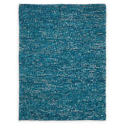 Nourison Fantasia Shag Handcrafted Rug in Turquoise