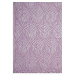 Nourison Contour 5' x 7'6 Handcrafted Area Rug in Lavender