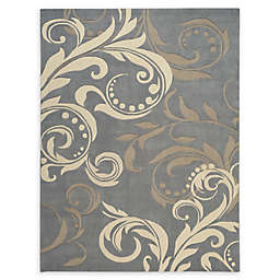 Nourison Contour Handcrafted Area Rug in SIlver