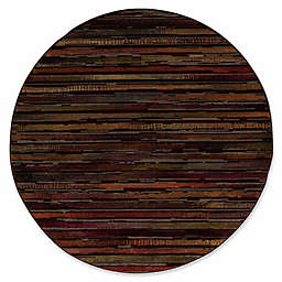 Nourison Paramount Contemporary 5'3 x 5'3 Round Area Rug in Multicolor