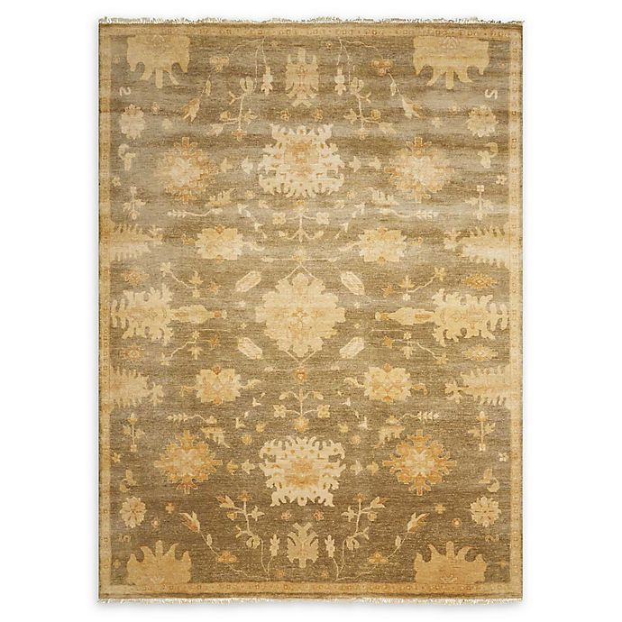 Alternate image 1 for Nourison Grand Estate 5'6 x 8' Hand-Knotted Area Rug in Sage