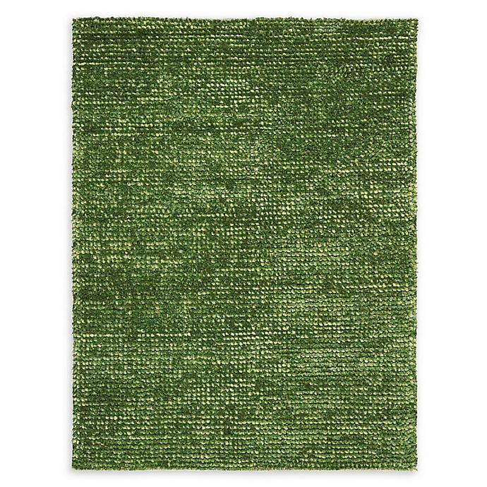 Alternate image 1 for Nourison Fantasia Handcrafted Shag Area Rug in Green
