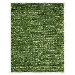 Nourison Fantasia Handcrafted Shag Area Rug in Green