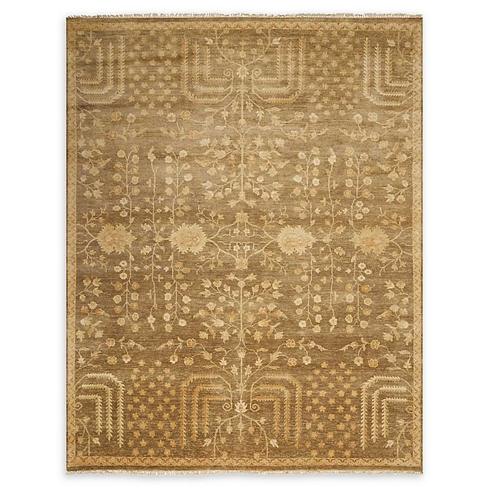 Alternate image 1 for Nourison Grand Estate 8'6 x 11'6 Hand-Knotted Area Rug in Mushroom