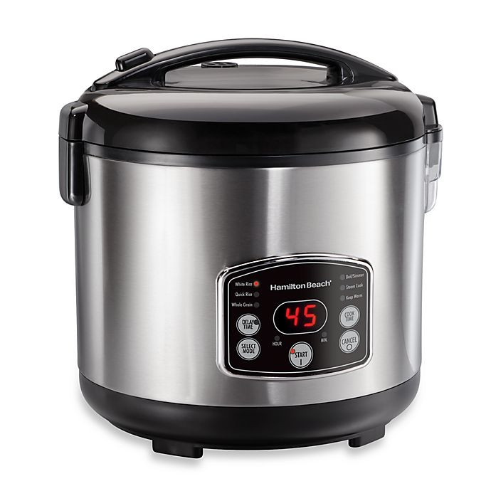 Alternate image 1 for Hamilton Beach® Digital Simplicity™ Rice Cooker and Steamer