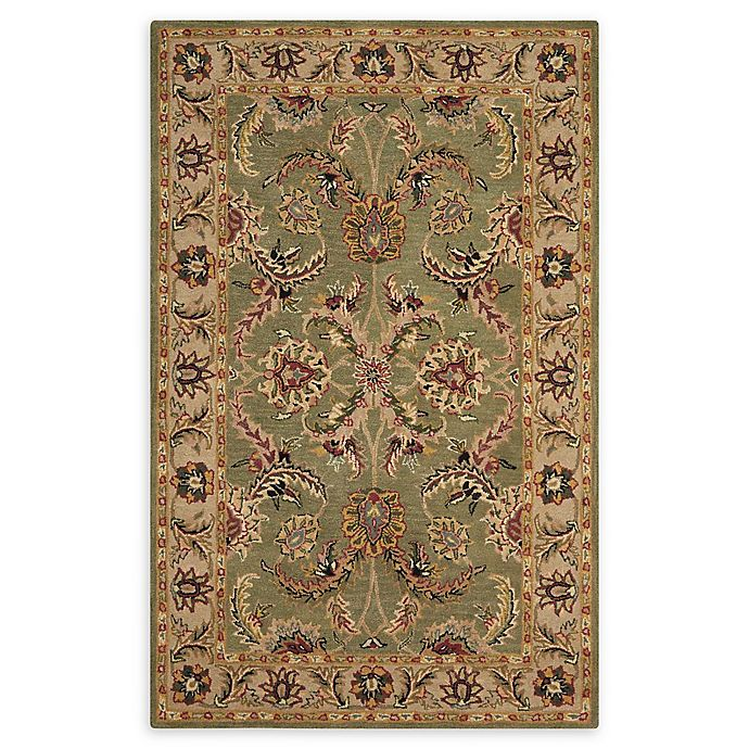Nourison India House Rug In Green Bed