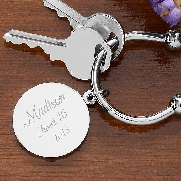 Alternate image 1 for Town & Country Silver-Plated Keyring