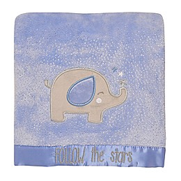 "Baby Starters® ""Follow the Stars"" Plush Blanket in Blue"