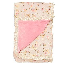 Little Me® Luxe Reversible Rose Plush Blanket
