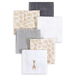 Hudson Baby® 6-Pack Giraffe Woven Terry Washcloths in Beige