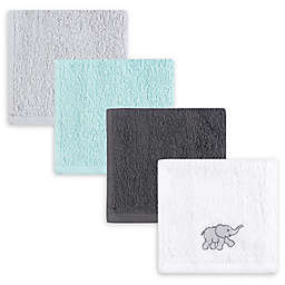 Luvable Friends® 6-Pack Elephant Woven Terry Washcloths in Grey