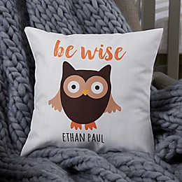 Personalized Woodland Adventure Owl Baby Throw Pillow