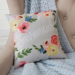 Floral Baby Personalized Throw Pillow