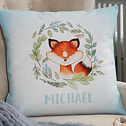 Woodland Fox Personalized Throw Pillow