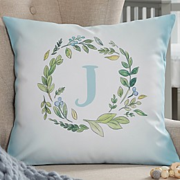 Woodland Initial Personalized Throw Pillow