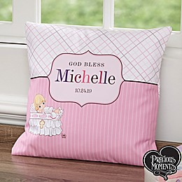 Precious Moments® Personalized Christening Throw Pillow