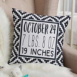 Black & White Personalized Baby Throw Pillow