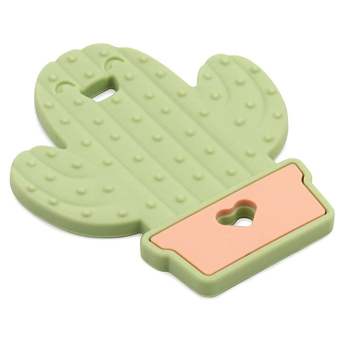 Alternate image 1 for Bumkins® Cactus Silicone Teether in Green