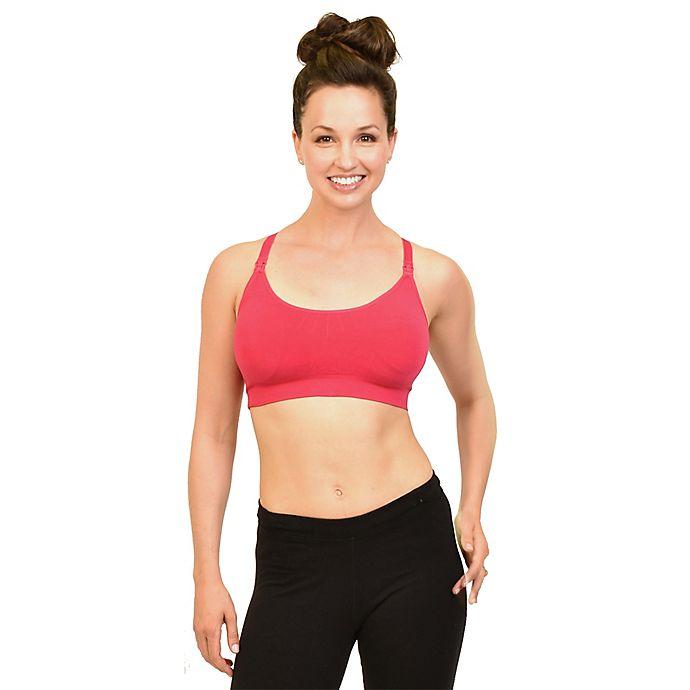 Alternate image 1 for Bamboobies® Small Yoga Nursing Bra in Hibiscus