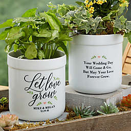 Let Love Grow Personalized Outdoor Flower Pot