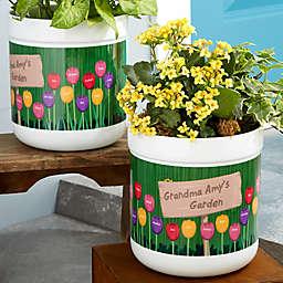 Grandma's Garden Personalized Outdoor Flower Pot