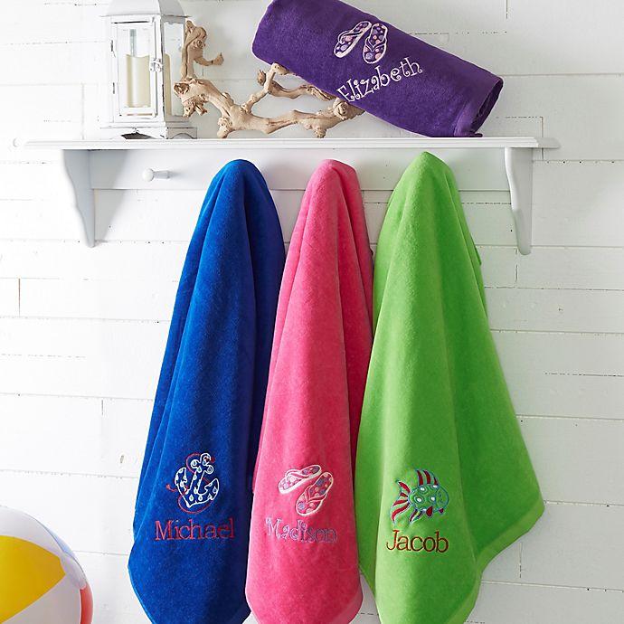 Alternate image 1 for Beach Fun! Personalized 36-Inch x 72-Inch Beach Towel