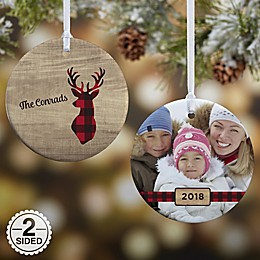 2-Sided Glossy Cozy Cabin Personalized Ornament- Small