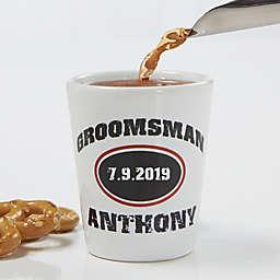 Groomsmen Personalized Shot Glass