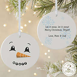 Snowman 2-Sided Large Matte Personalized Ornament