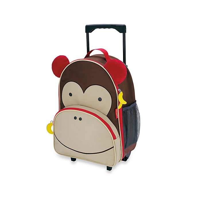 Alternate image 1 for SKIP*HOP® Zoo Little Kid Rolling Luggage in Monkey