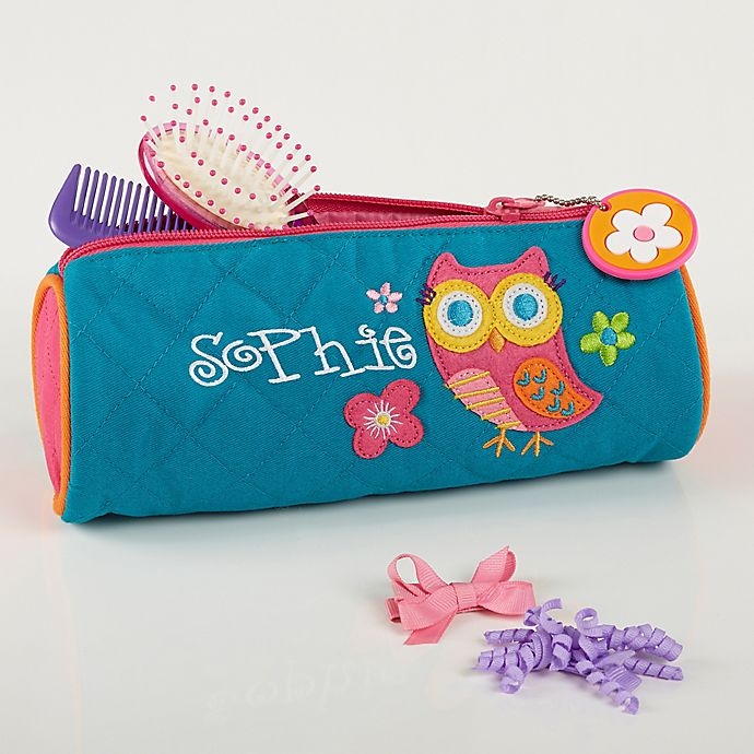 Alternate image 1 for Personalized Lovable Owl Cosmetic Case by Stephen Joseph