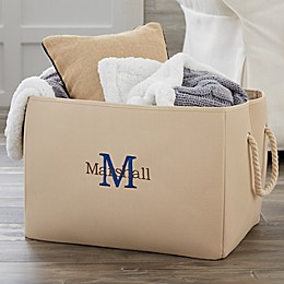 Initially Yours Embroidered Storage Tote