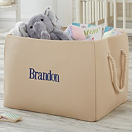 Personalized Embroidered Storage Tote-Name