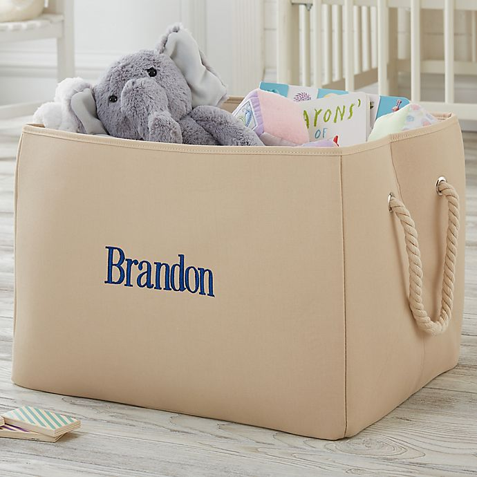 Alternate image 1 for Personalized Embroidered Storage Tote-Name