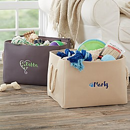 Embroidered Pet Toy Storage Tote