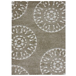 Loloi Rugs Transitional Enchant Shag Rugs in Beige