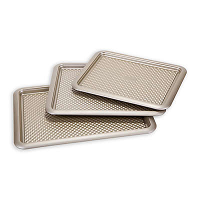Art and Cook™ 3-Piece Nonstick Cookie Sheet Set in Champagne