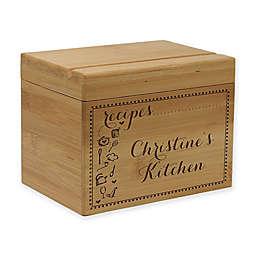 Scroll Kitchen Essentials Bamboo Recipe Box