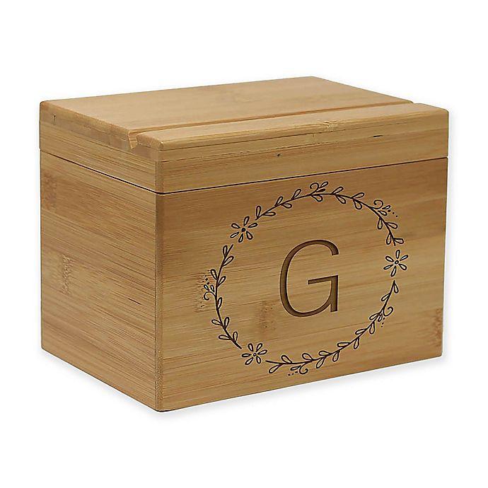 Alternate image 1 for Circular Vine Bamboo Recipe Box